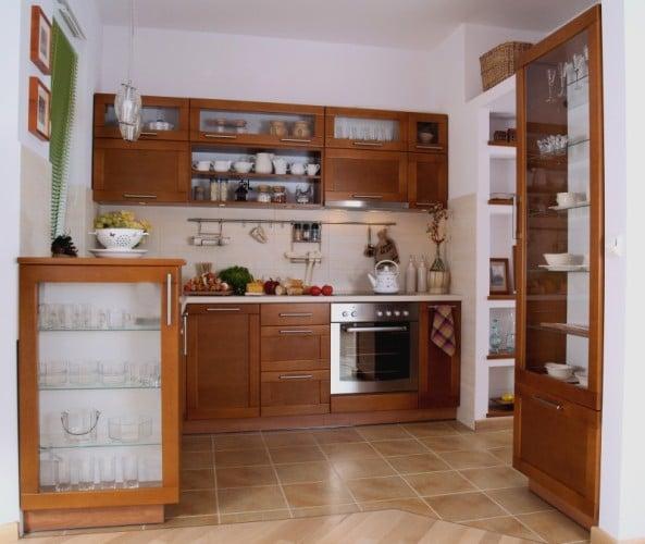 Kolor ścian do mebli kuchennych wiśnia  Kuchnia -> Kuchnia W Bloku Kolory Ścian