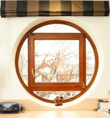 Okrągłe okno drewniane, Stolbud Włoszczowa