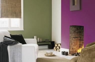 Kolory ścian: fiolet w mieszkaniu