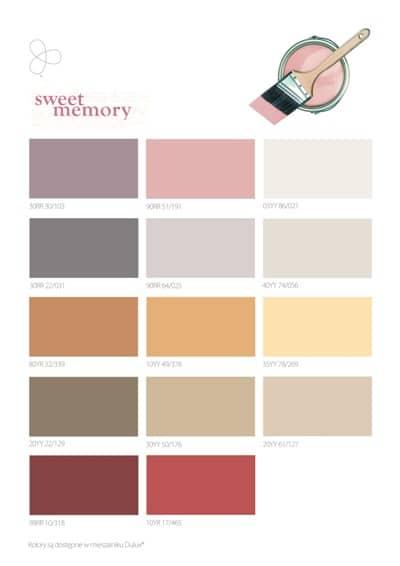 Dulux - karta farb Sweet Memory