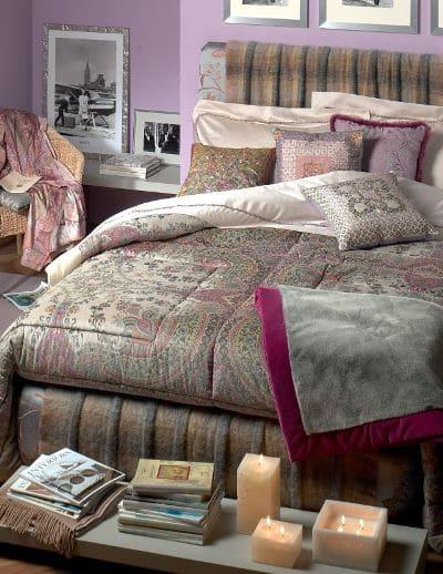 Sypialnia w kolorach Sweet Memory, ściany pomalowane farbą Dulux