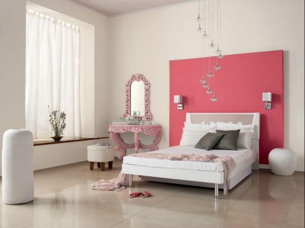 Sypialnia w pastelowych kolorach Dulux Sweet Memory