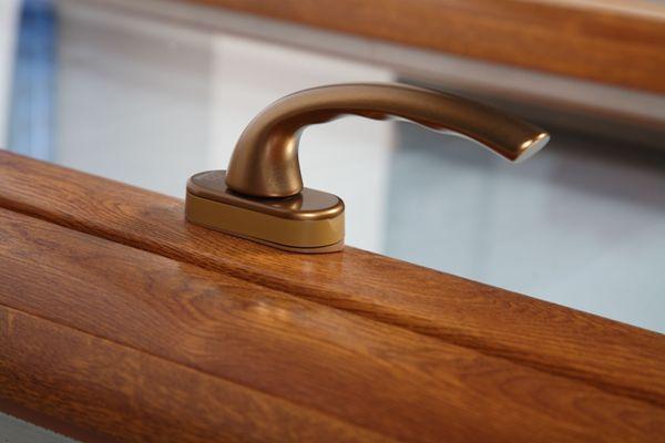 Profil okna PVC drewnopodobnego
