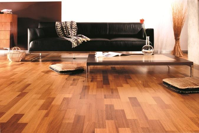 Podłoga z drewna iroko, Barlinek