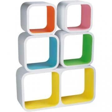 Kolorowe kubiki kwadraty