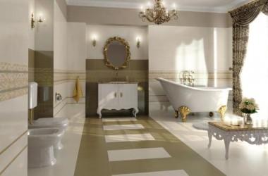 Płytki na podłogę i ścianę do łazienek retro