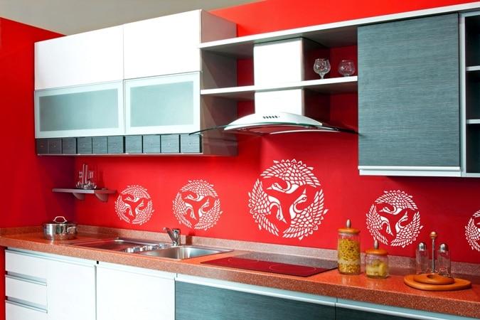 Kuchnia dekorowana naklejkami Art of Wall - wzór Orient