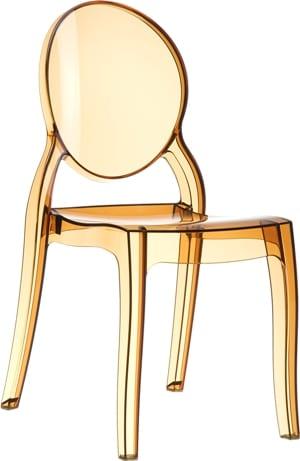Glamstore - krzesło Elizabeth Amber Transparent