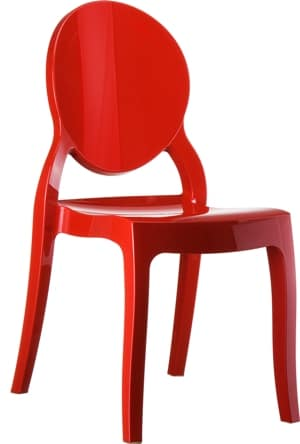 Glamstore - krzesło Elizabeth Red