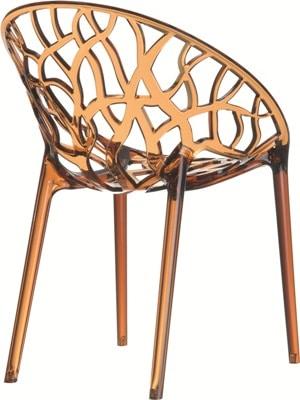 Glamstore - krzesło Crystal Amber