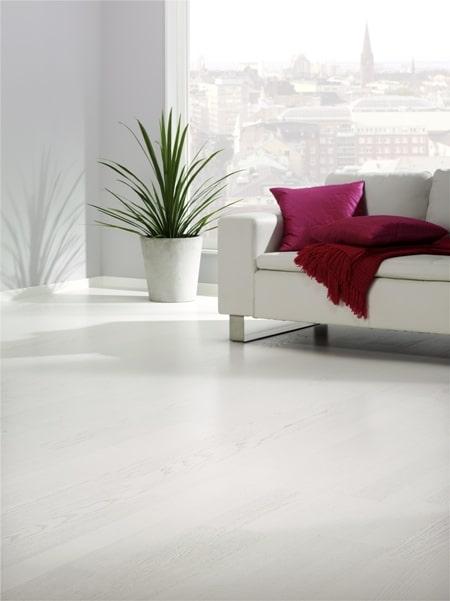 Podłoga drewniana, Tarkett, Viva Jesion Design Biały