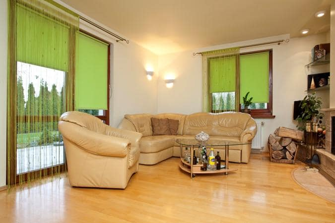 Rolety okienne, zielone, www.e-lotari.pl