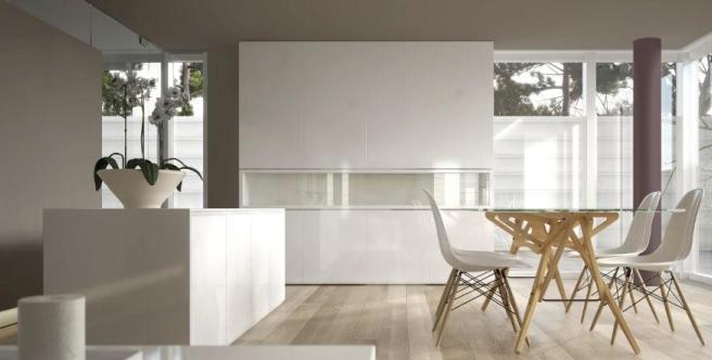 Dekoral, kuchnia w bieli