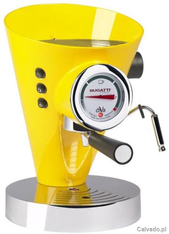 Żółty ekspres do kawy Bugatti - do kupienia www.calvado.pl (3299 zł)