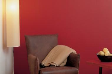 Czerwony kolor w mieszkaniu