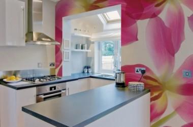Co zamiast glazury w kuchni? Fototapeta?