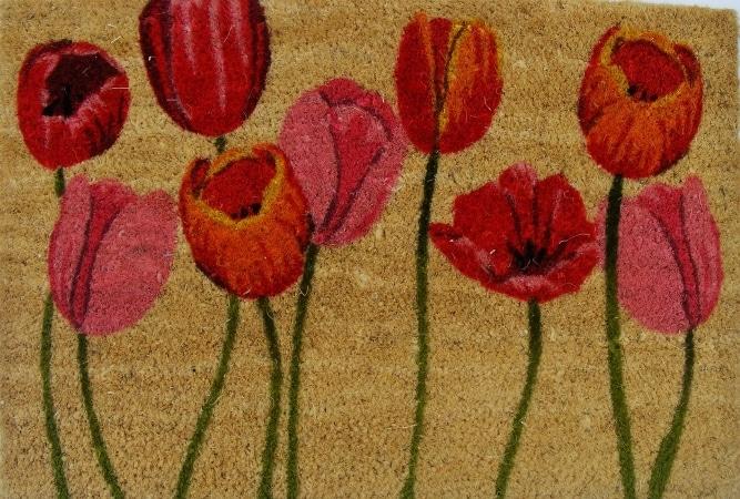 Komfort - wycieraczka w tulipany