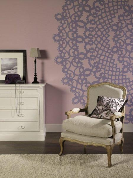 Dekoral Fashion - kolory Koronkowy róż z Satynowym wrzosem