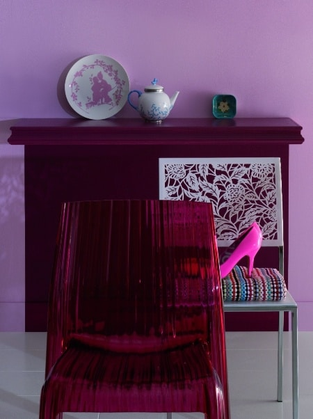 Kolor Tikkurila 252 - fiolet w pokoju