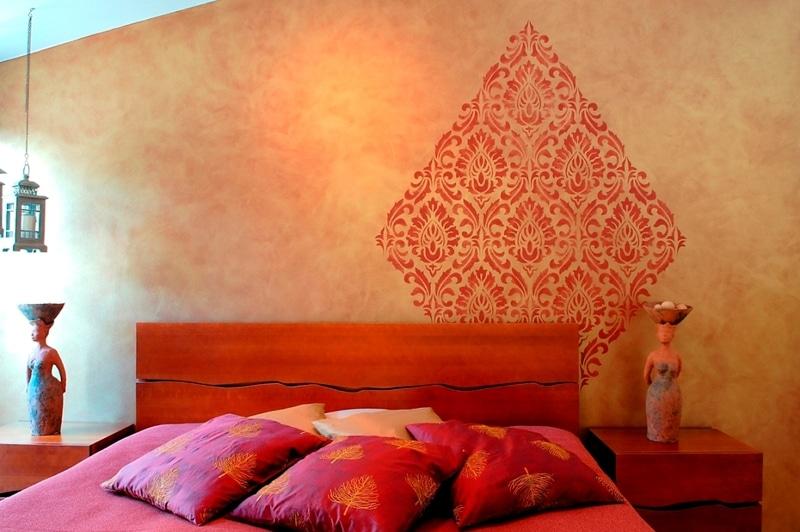 Tikkurila - szablon na ścianie