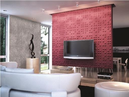 Panele trójwymiarowe i tynk imitujący beton