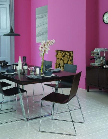 Malinowy krzew - kolor w pokoju