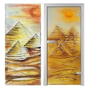 Drzwi Piramidy - szkło hartowane, Villa Glass Studio