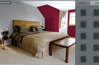 Sypialnia w dwóch kolorach