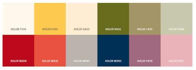 Kolory z serii Spontaniczna Gra Kolorów Tikkurila