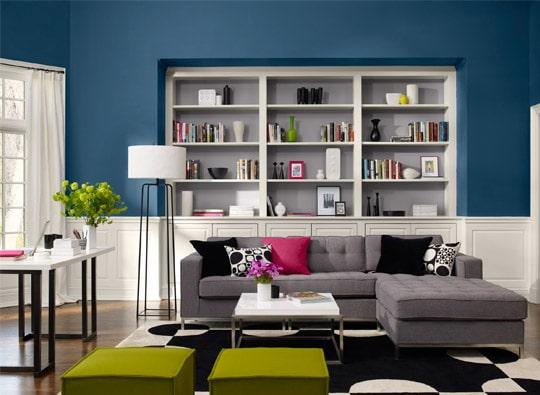Kolor niebieski lucerne AF-530; Benjamin Moore