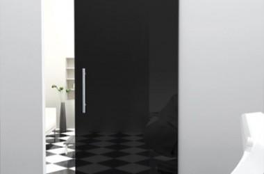 Drzwi przesuwane między pokojem a kuchnią
