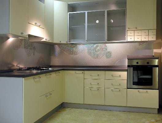 Villa Glass Studio szklany panel Muszla