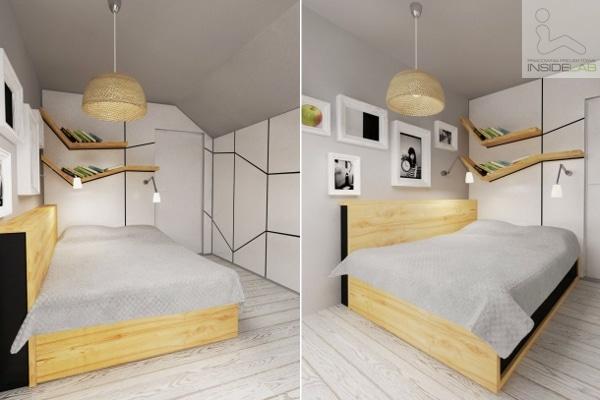 Sypialnia - projekt Insidelab