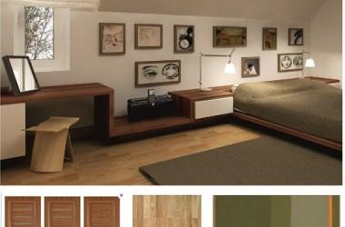 Kolor paneli i mebli do sypialni