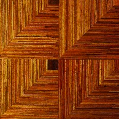 Deska warstwowa z drewna merbau z efektem 3D - DLH