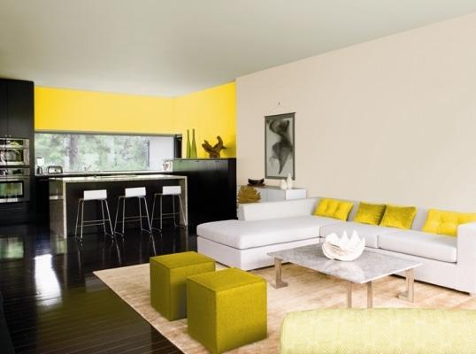 Ostry żółty - farby Benjamin Moore