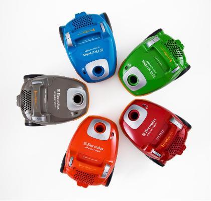 Ergospace Electrolux - odkurzacze w różnych kolorach