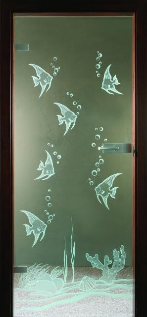 Szklane drzwi - wzór ryby