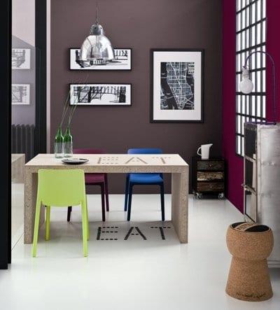 Jadalnia pomalowana farbami Dekoral Fashion Color