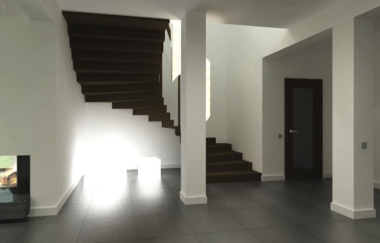 Dobrym pomysłem jest pomalowanie schodów na taki sam kolor, w jakim są drzwi w mieszkaniu