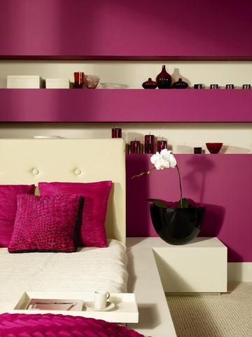 Sypialnia pomalowana farbami Akrylit W z serii Dekoral Fashion