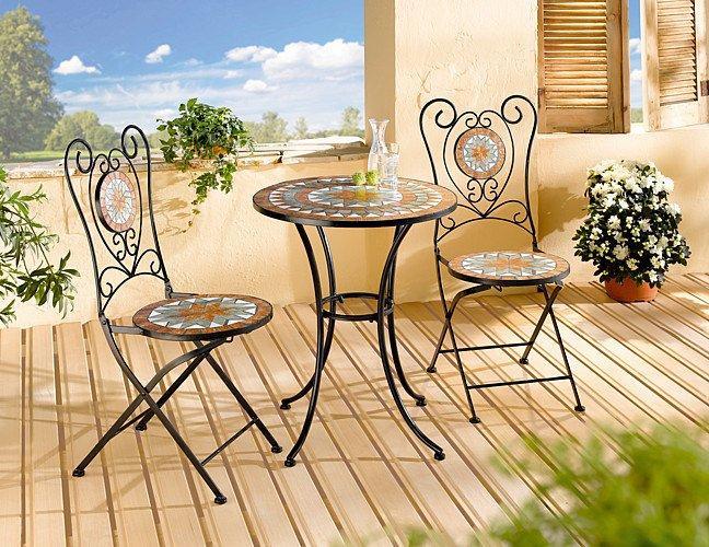 Komplet mebli ogrodowych - 2 krzesła i stolik