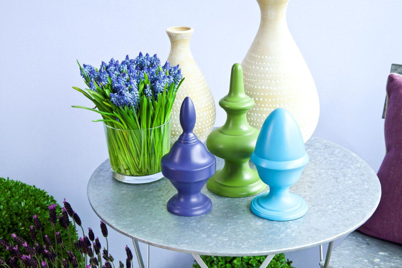 dekoracje pastelowe błękity i zielenie