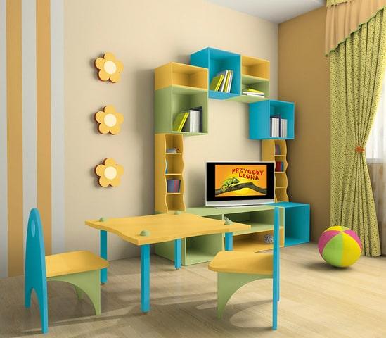 farby do drewna Dekoral Akrylux mogą być stosowane w pokojach dziecięcych