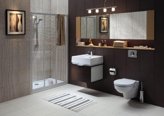 Łazienka urządzona sprzętami marki Koło