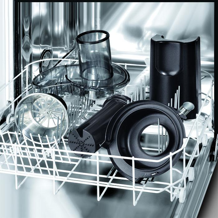 Elementy sokowirówki Electrolux można myć w zmywarce.