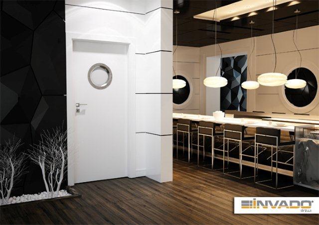 Drzwi firmy Invado białe; model Plano