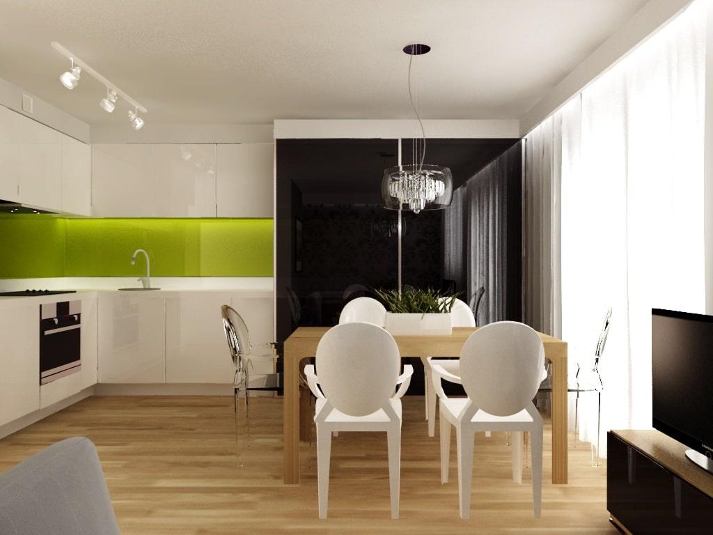 Efekt barwionego szkła na ścianie. Projekt: Icona studio