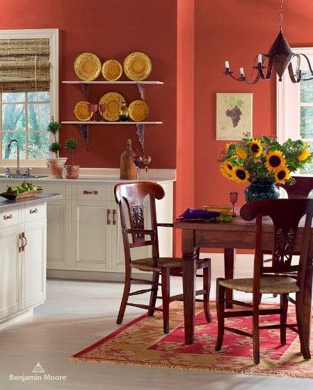 Kuchnia pomalowana farba Benjamin Moore