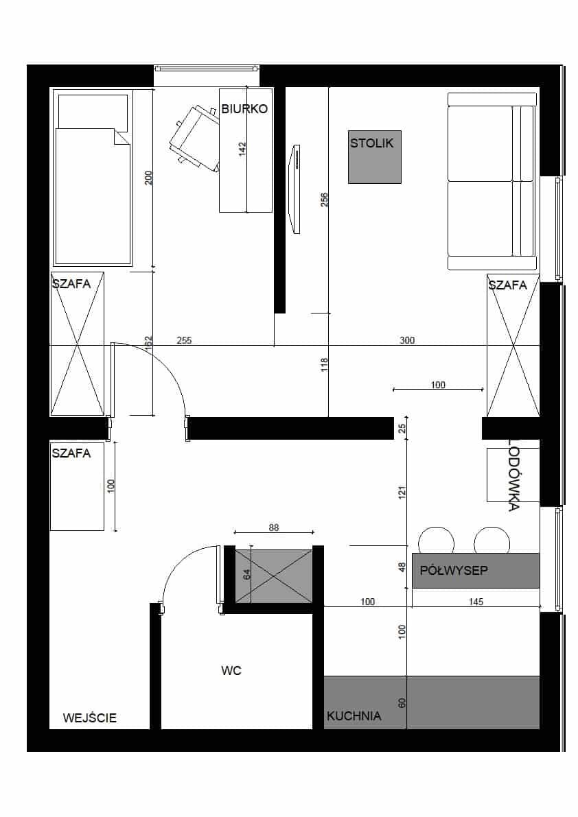 Projekt mieszkania 40 metrów kw